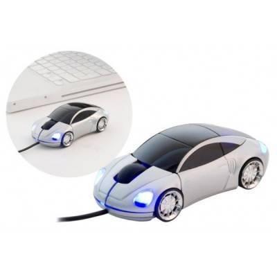 Ratón USB Sport Car plateado