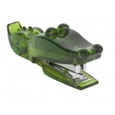 Grapadora cocodrilo verde