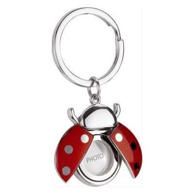 Llavero mariquita portafoto rojo