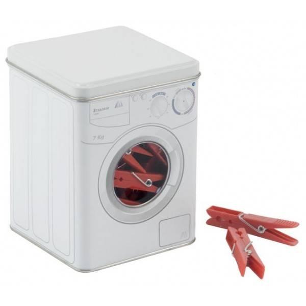 Cajade pinzas lavadora blanca tata