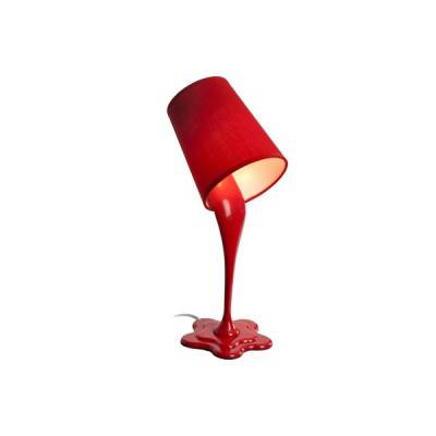 Lámpara de sobremesa Splash en rojo